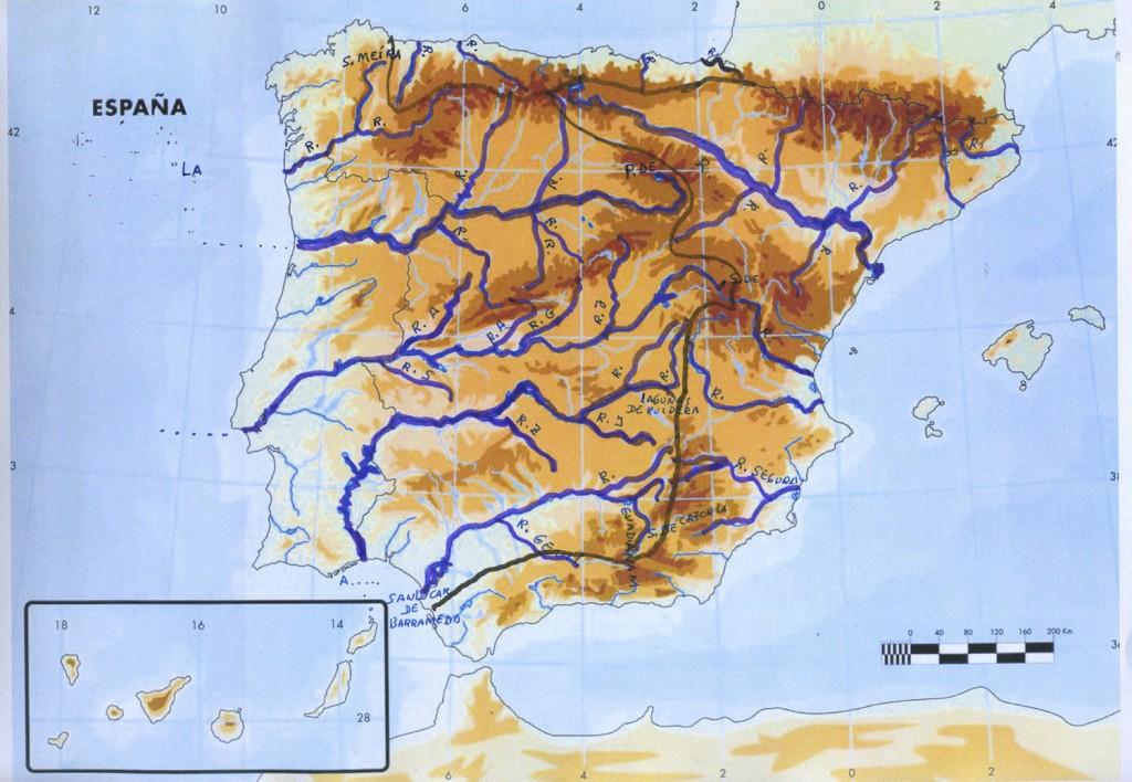 mapa rios de españa