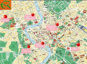 mapa roma turistico