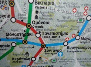 mapa de grecia en español