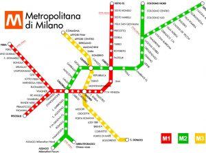 mapa de rutas de italia