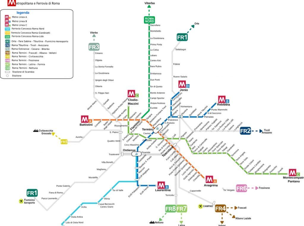 Mapa metropolitano de Romano