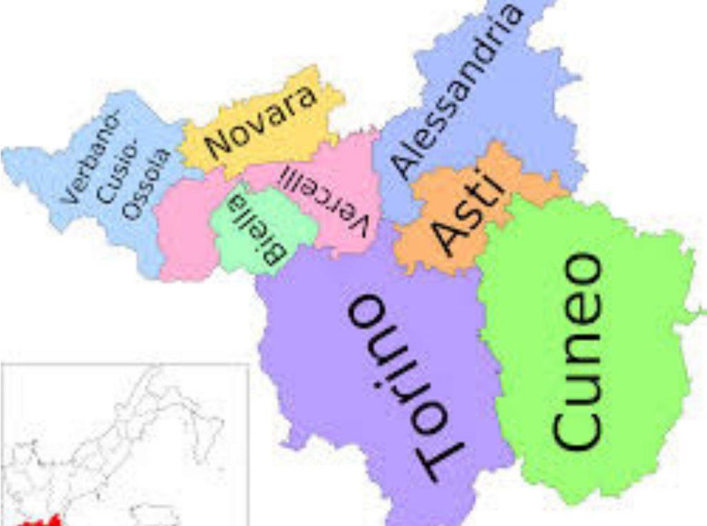 Mapa del norte de Italia