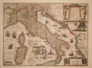 mapa de italia y francia