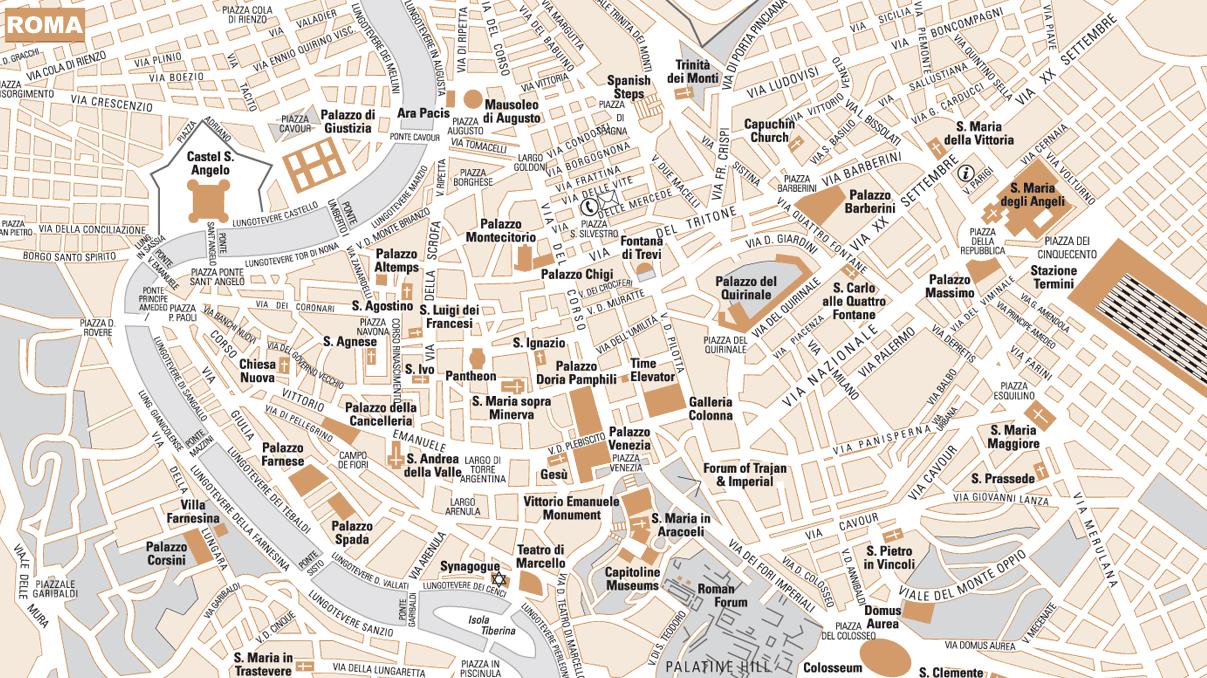 mapa roma centro Mapa de Roma   Turismo.org mapa roma centro