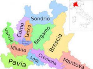Mapa del sur de Italia