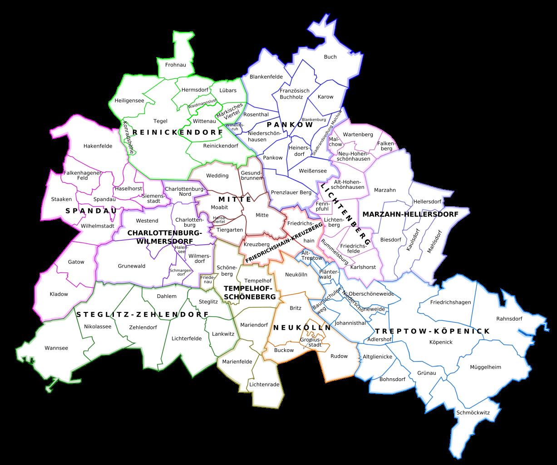 Distritos administrativos de Berlín - autor