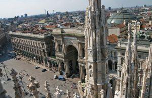 Visión general de la ciudad de Milán
