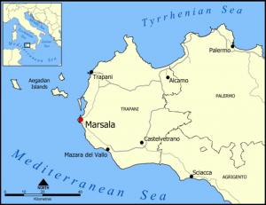 Mapa de Marsala