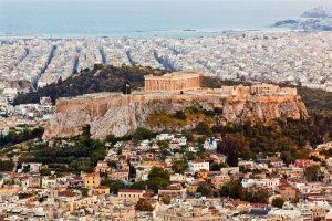 Plano Panorámico de Acrópolis de Atenas.