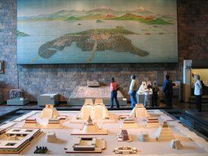 Modelo a escala de la Gran Tenochtitlán (Sala Mexica).Museo de Antropología en México.