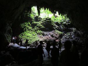Entrada de la Cueva Clara (brillante cueva), Parque de las Cavernas del Río Camuy-Puerto Rico.