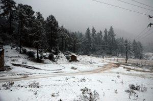 Sierra de Arteaga, Coahuila en invierno.