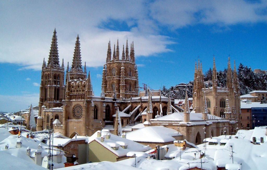 Catedral de Burgos en invierno.