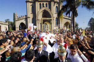 Celebración por la Fiesta de la Virgen de Guadalupe.