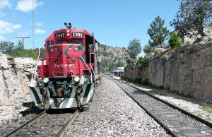 Tren El chepe en México.