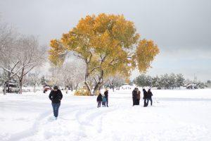 Clima de invierno en Chihuahua, México.