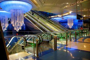 Estación Khaleed bin Waleed del metro de Dubái.
