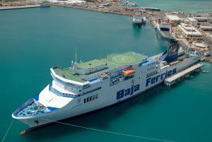 Empresa Baja Ferries en México.
