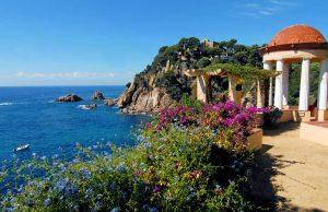 Jardines históricos de la Costa Brava en España.