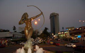 La Diana Cazadora, es la escultura más famosa de Acapulco.