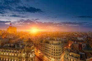 La ciudad de Madrid en verano.