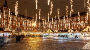 Feria de Navidad en Madrid.