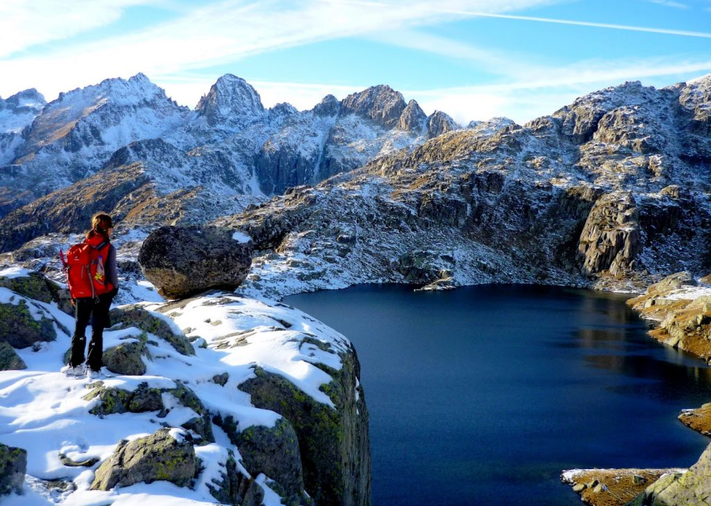 Parque Nacional de los Pirineos en invierno.