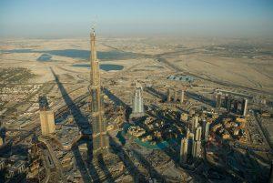 Proceso de construcción del rascacielo más grande del mundo, Burj Khalifa.