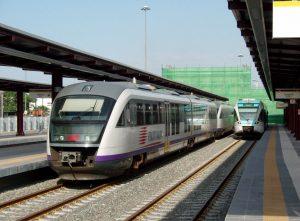 Railbus para el servicio suburbano-Pireo