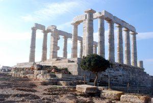 Templo de Poseidon en Grecia.