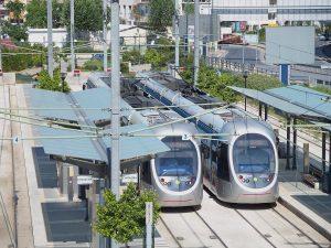 Parada del Estadio de la Amistad  en Faliro, Pireo, y es el terminal de las líneas 1 y 3 de la red de tranvías de Atenas.