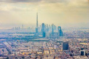 vista aérea de la ciudad de Dubai.
