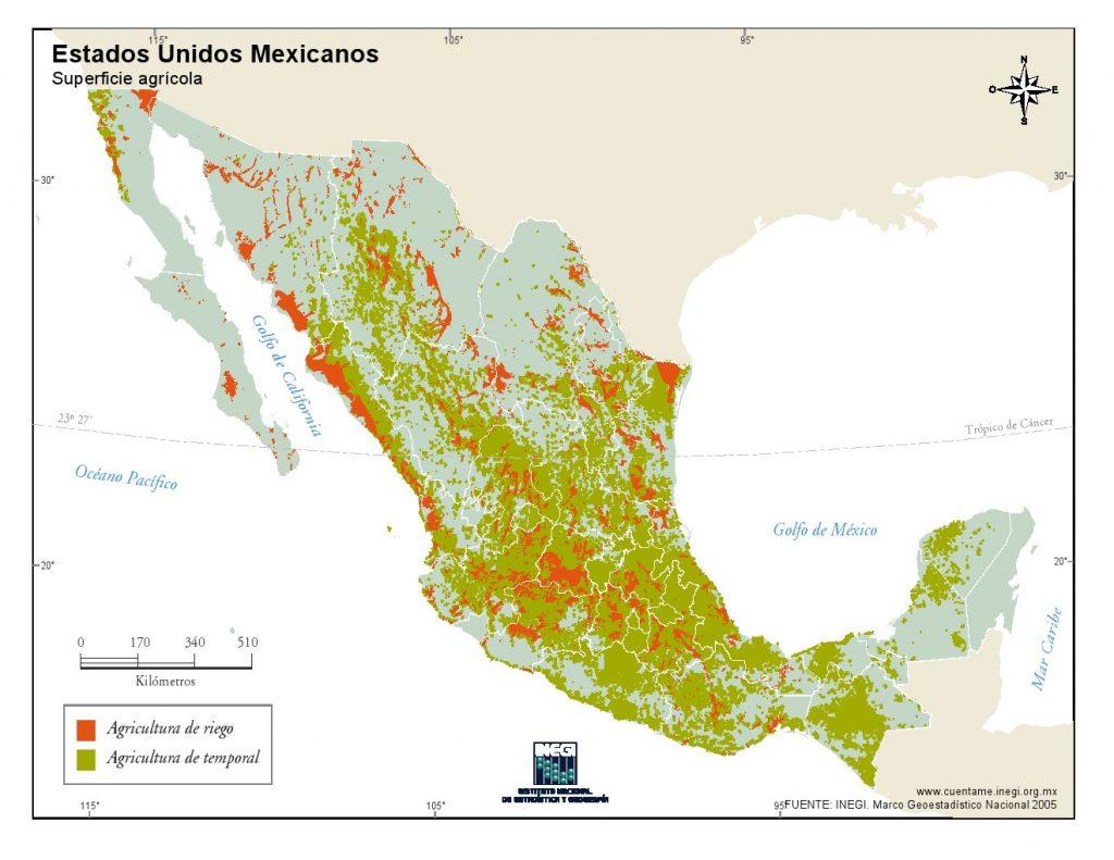 Mapa-agricola-de-Mexico