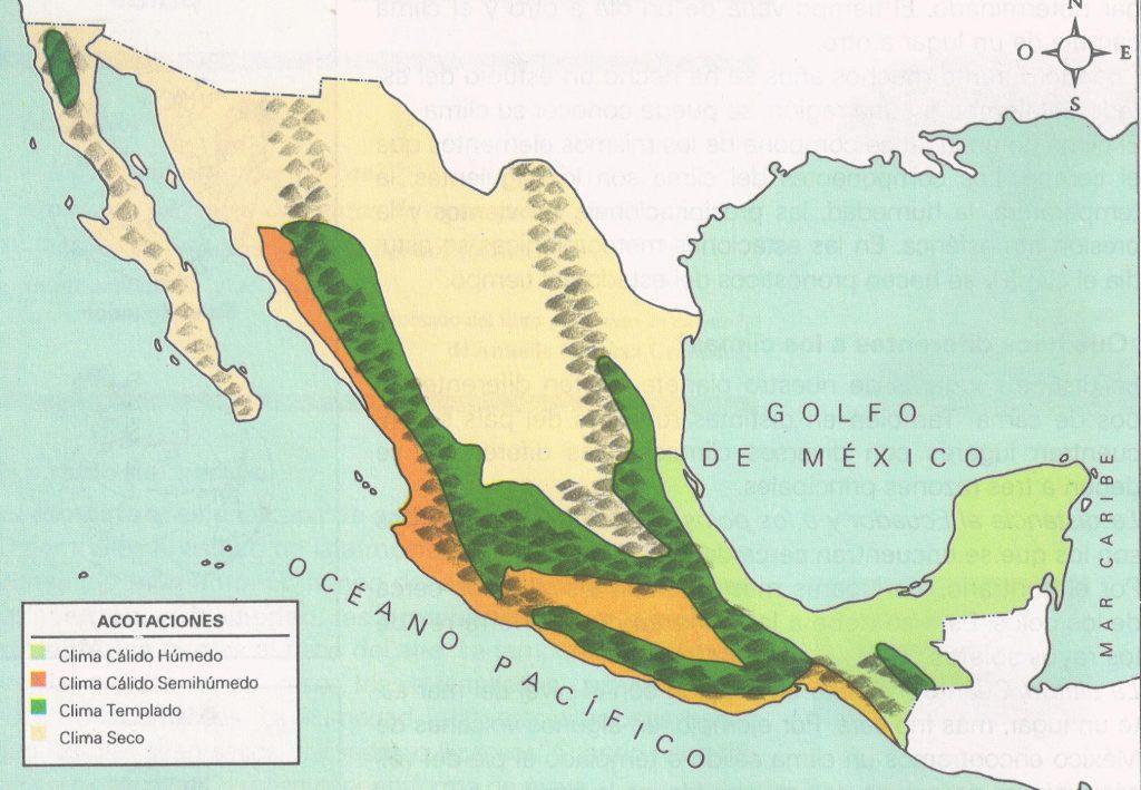 Mapa-de-climas-de-Mexico