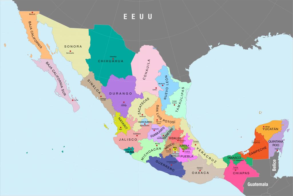 Mapa-politico-de-Mexico