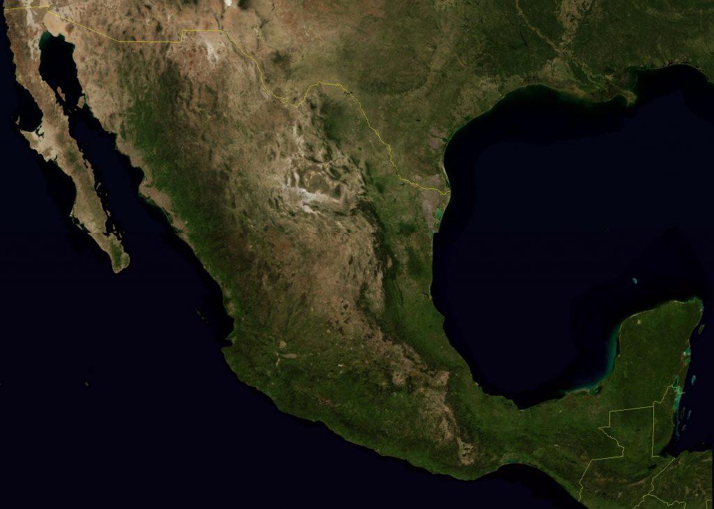 Mapa-satelital-de-Mexico