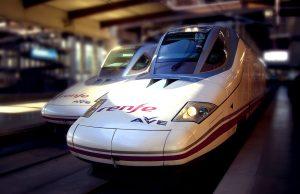 Tren de AVE en España