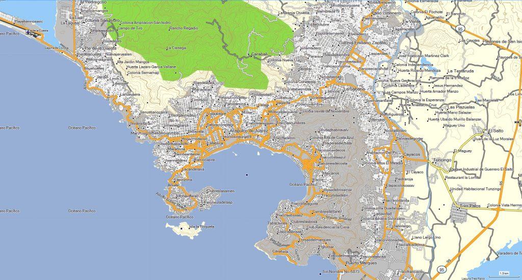 Mapa-de-Acapulco