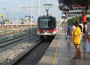 La estación Talleres del Metrorrey de México.