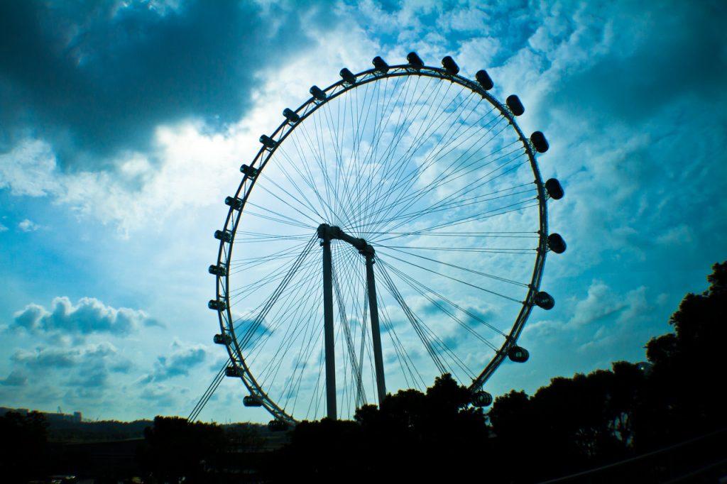 Atardecer-desde-Singapore-Flyer