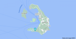 Donde esta localizado Santorini
